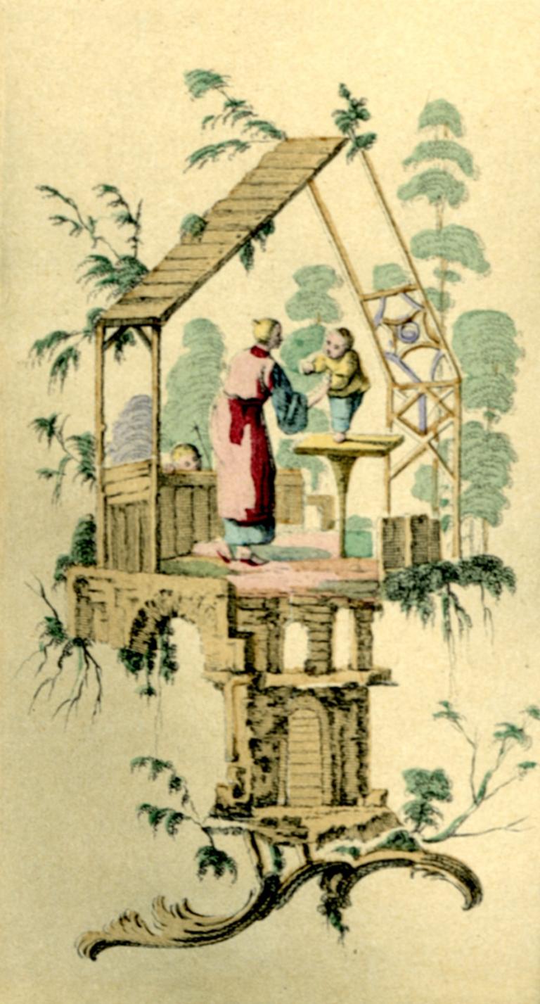 Detail from Fleurs, Oiseaux et Fantaisies par Jean Pillement 1719–1808 (Paris: Ernst Henri, Editeur, 1924), Plate 19.