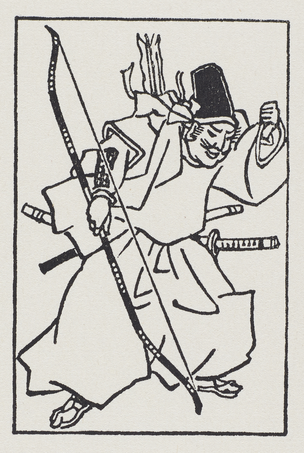 The Travels of Marco Polo (Rochester, New York: The Printing House of Leo Hart, 1933), p. 310. Marginal illustration by W.A. Dwiggins.