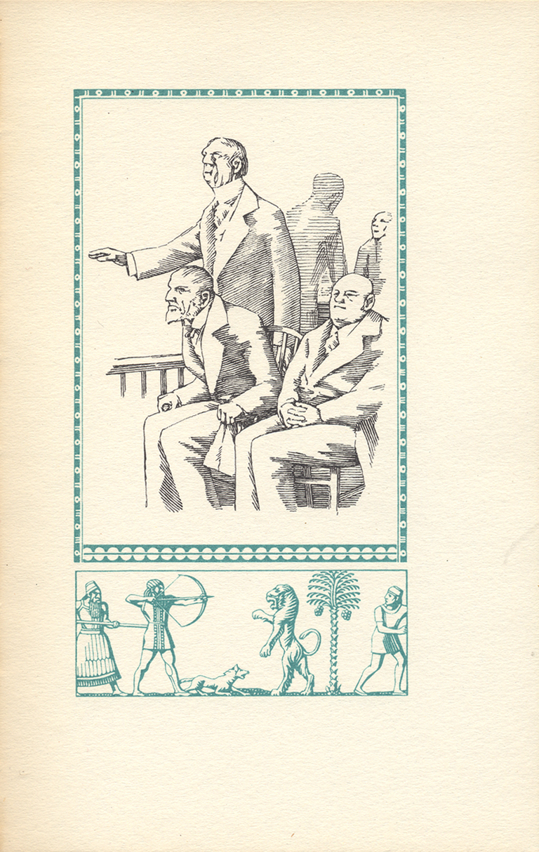 Page 33 from The History of Susanna (New York: The Scribe, Archway Press, 1948). Design and illustration by W.A. Dwiggiins.