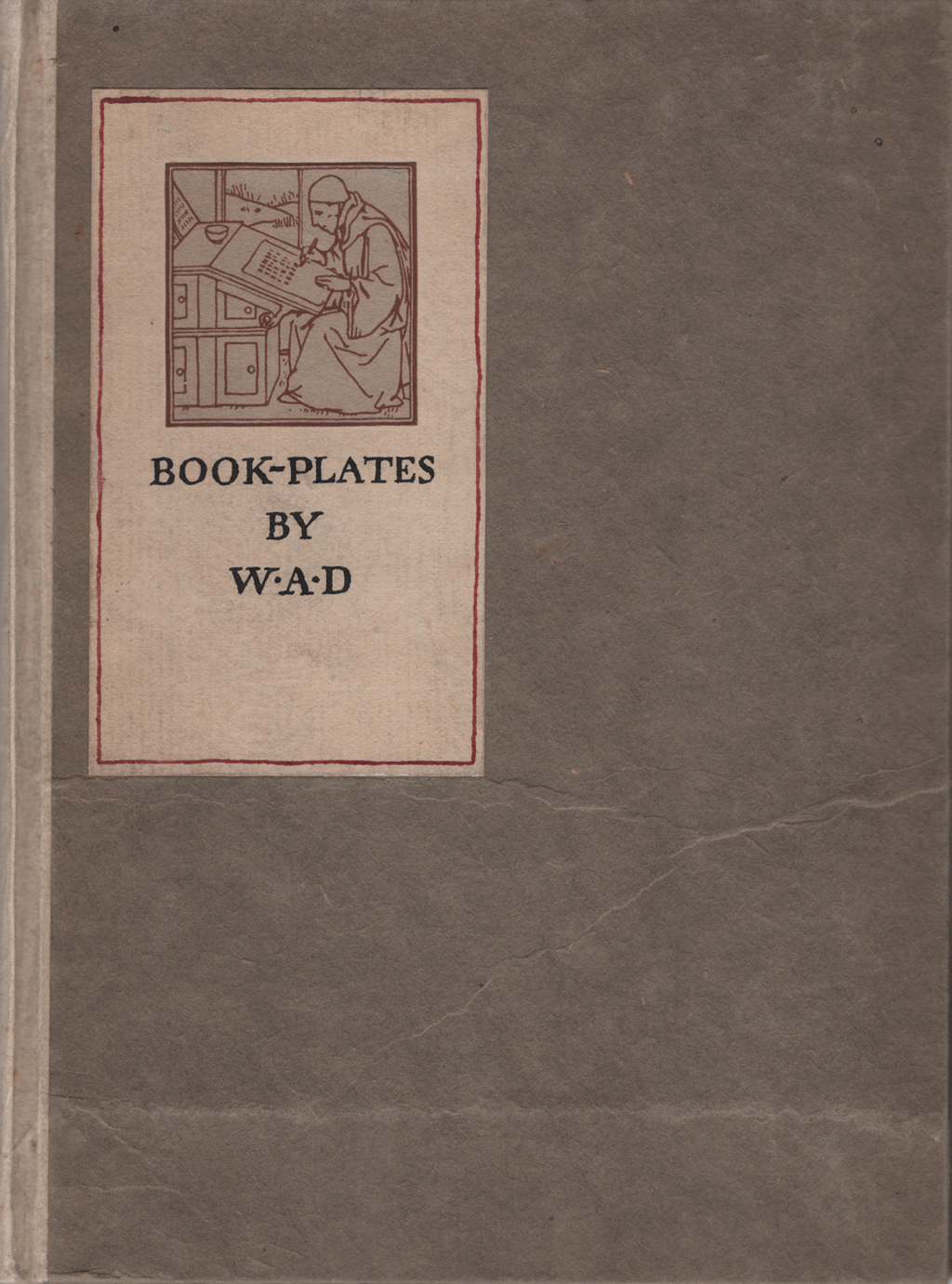 Cover of Book-Plates by W.A.D. (c.1905). Illustration by W.A. Dwiggins.
