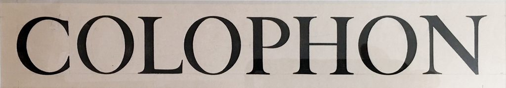 Original lettering by W.A. Dwiggins for The New Colophon title page. From the private collection of Charles Nix.