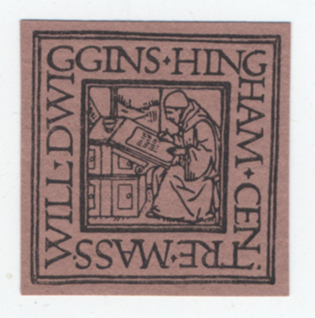 Bookplate (c.1904). Design, illustration and lettering by W.A. Dwiggins. Formerly in the personal collection of Irving Oaklander.