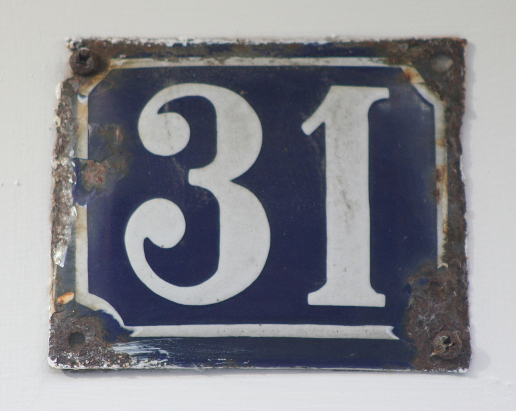 House number in Copenhagen. Photograph by Paul Shaw (2014).