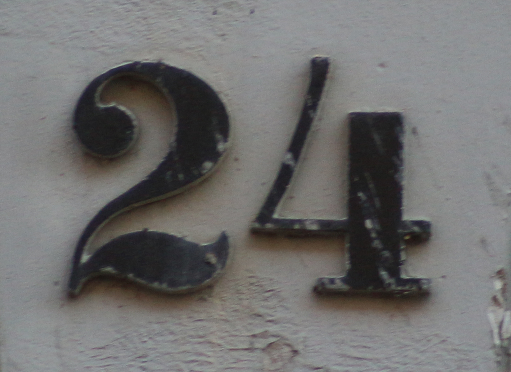 House number in Copenhagen. Photograph by Paul Shaw (2015).